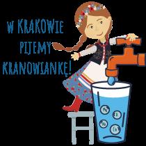 Logotyp akcji w Krakowie pijemy kranowiankę.