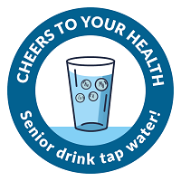 Logotype of the campaign Cheers to your health.