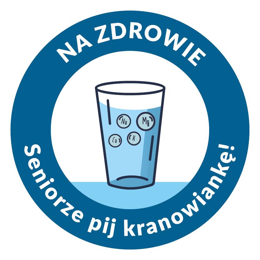 logotyp kampanii Na zdrowie seniorze. Pij kranowiankę!
