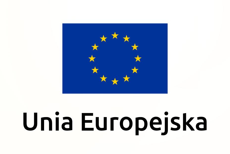 Flaga Unii Europejskiej. Gwiazdki na granatowy tle.