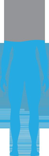 grafika człowieka wypełnionego do 70% wodą