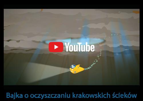 Screen z bajko o oczyszczaniu krakowskich ścieków