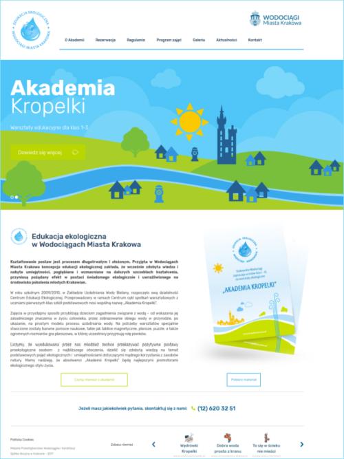 Screen strony Akademia Kropelki