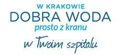 logotyp programu W Krakowie dobra woda prosto z kranu w twoim szpitalu.