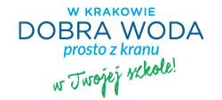 logotyp programu W Krakowie dobra woda prosto z kranu w Twojej szkole.