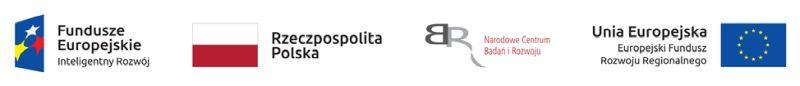 zestawienie 4 logotypów Fundusze Europejskie Inteligentny Rozwój, Rzeczpospolita Polska, Narodowe Centrum Badań i Rozwoju, Unia Europejska