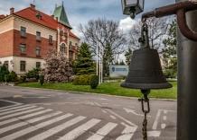 Widok budynku głównego Wodociągów Miasta Krakowa od strony wejścia główneg.o