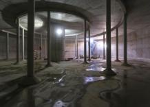 Budowa zbiornika wodociągowego. Zdjęcie od wewnatrz.
