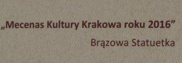 Wodociągi Krakowskie Mecenasem Kultury Miasta Krakowa